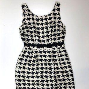 Kate Spade Lola Silk Houndstooth Dress